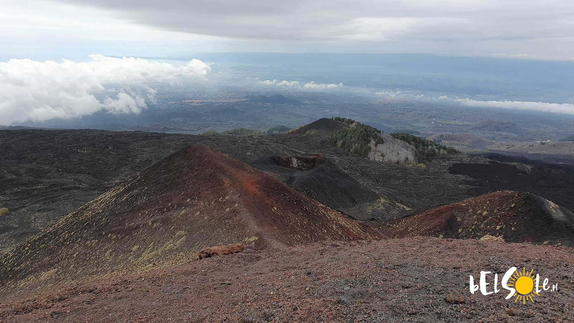 Widok Katania, Etna