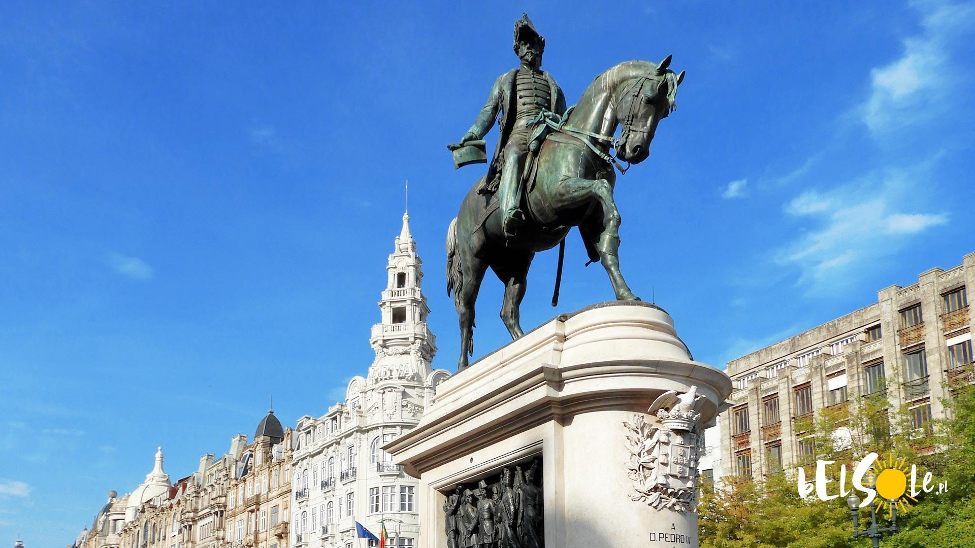 Pomnik Piotra I w Porto