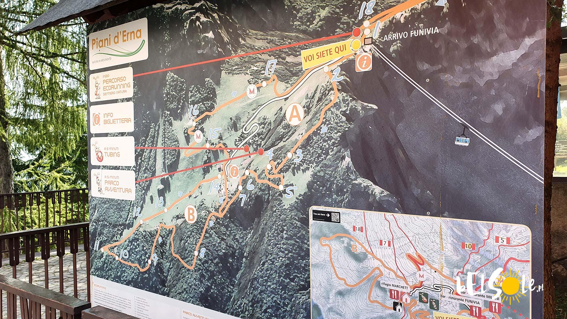 mapa piani derna
