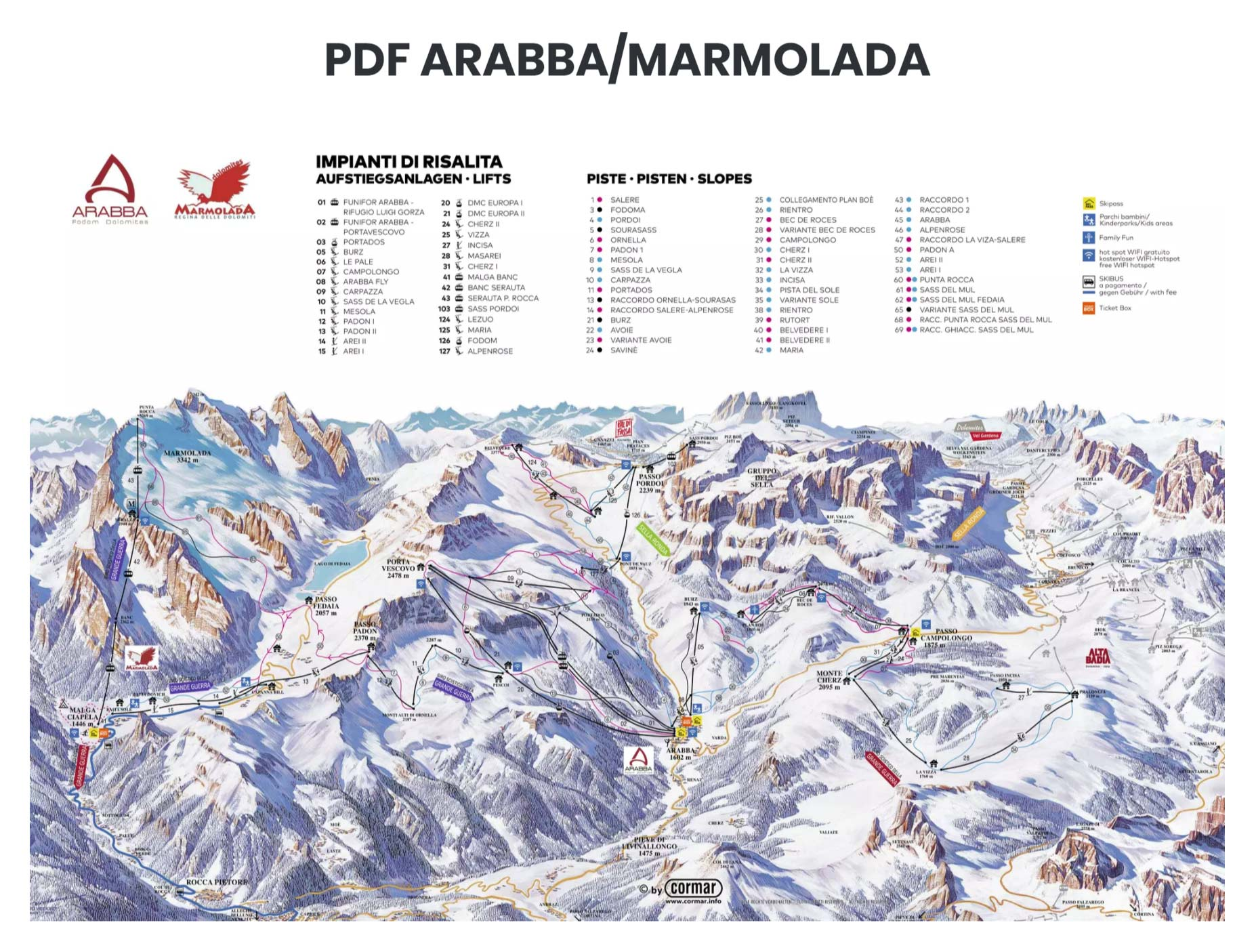 arabba marmolada mapa