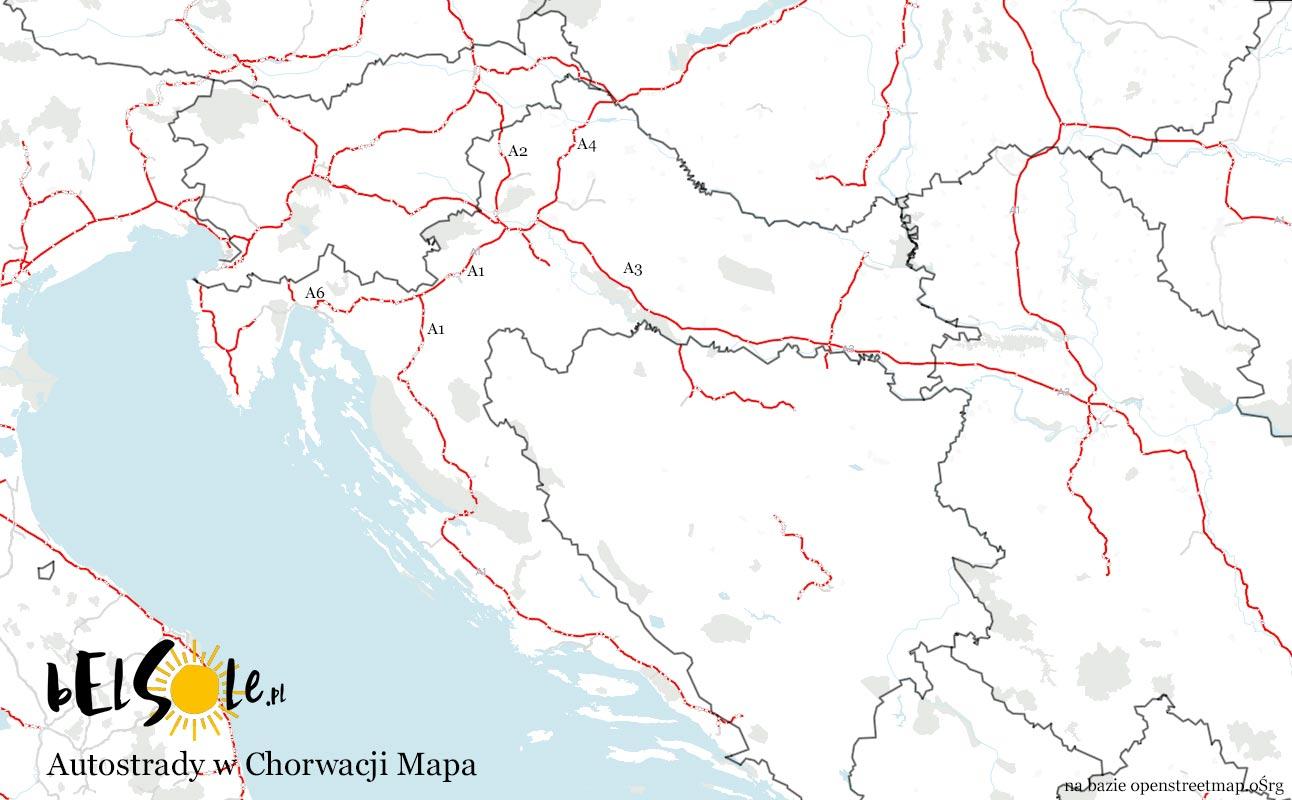 Autostrady Chorwacja Mapa