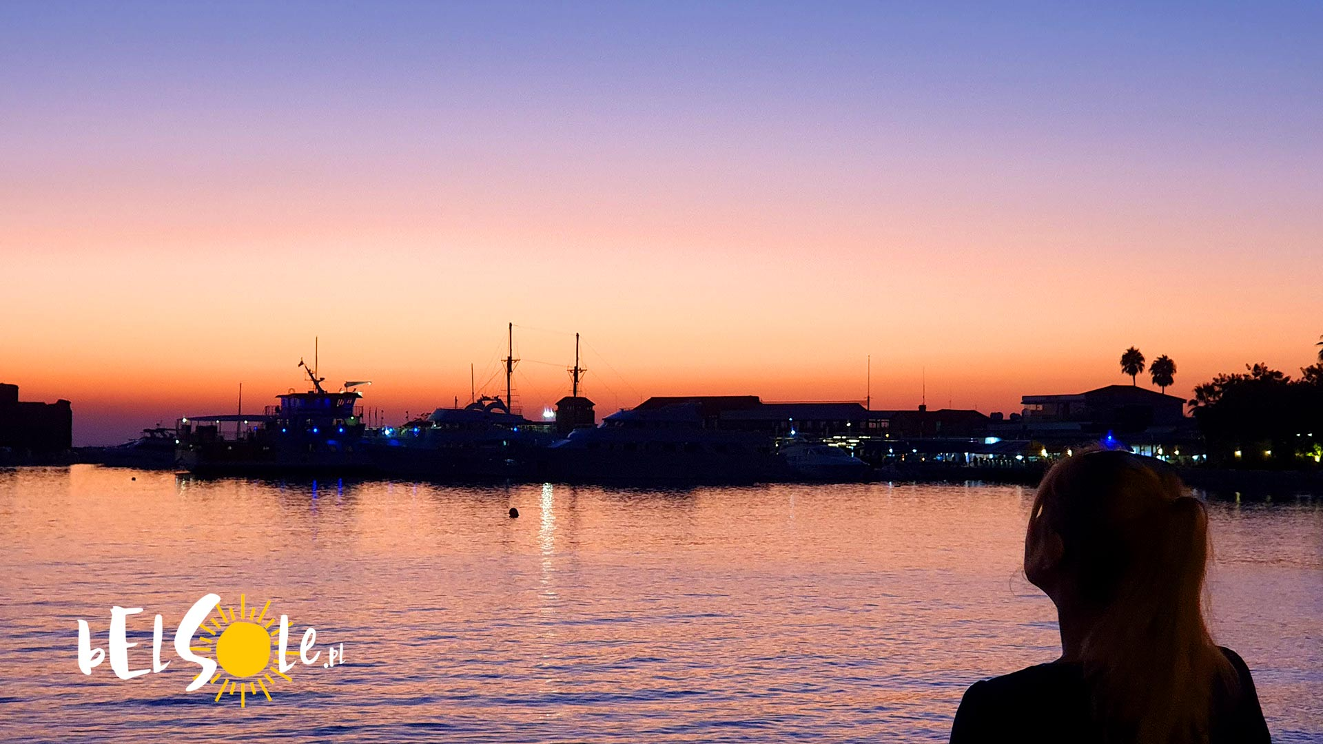 zachód słońca Cypr