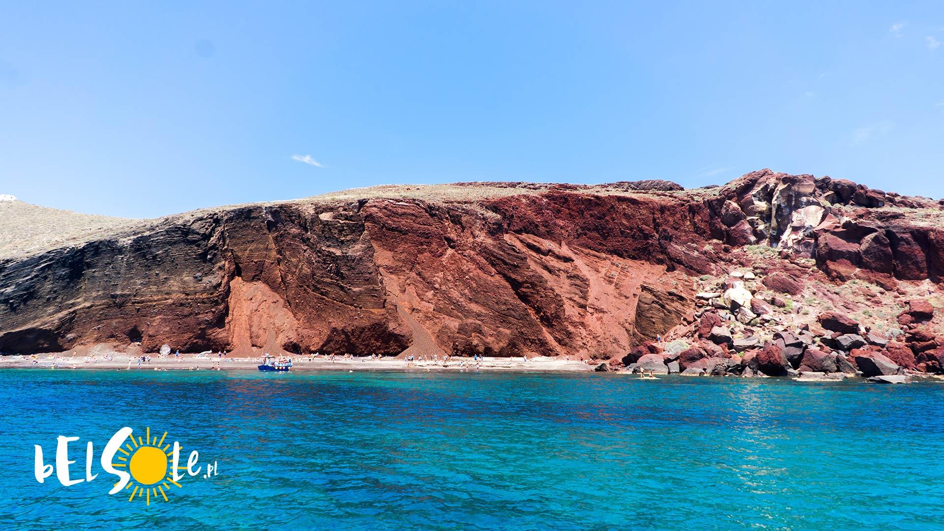 czy na Santorini są plaże
