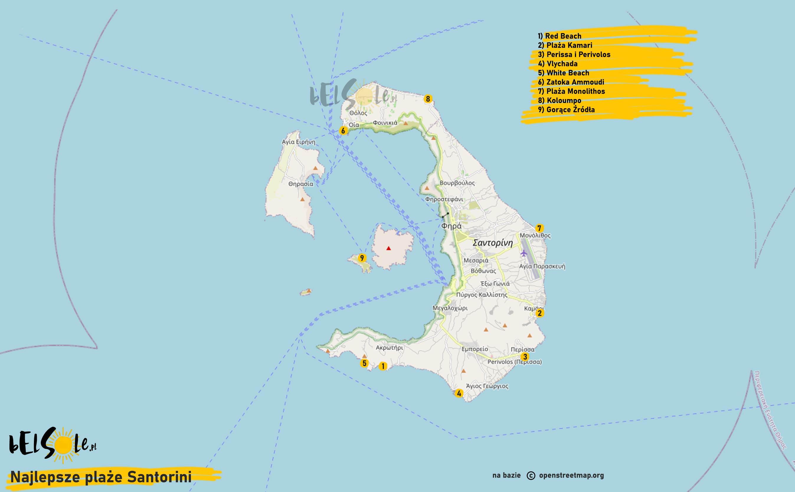 najlepsze plaże na Santorini