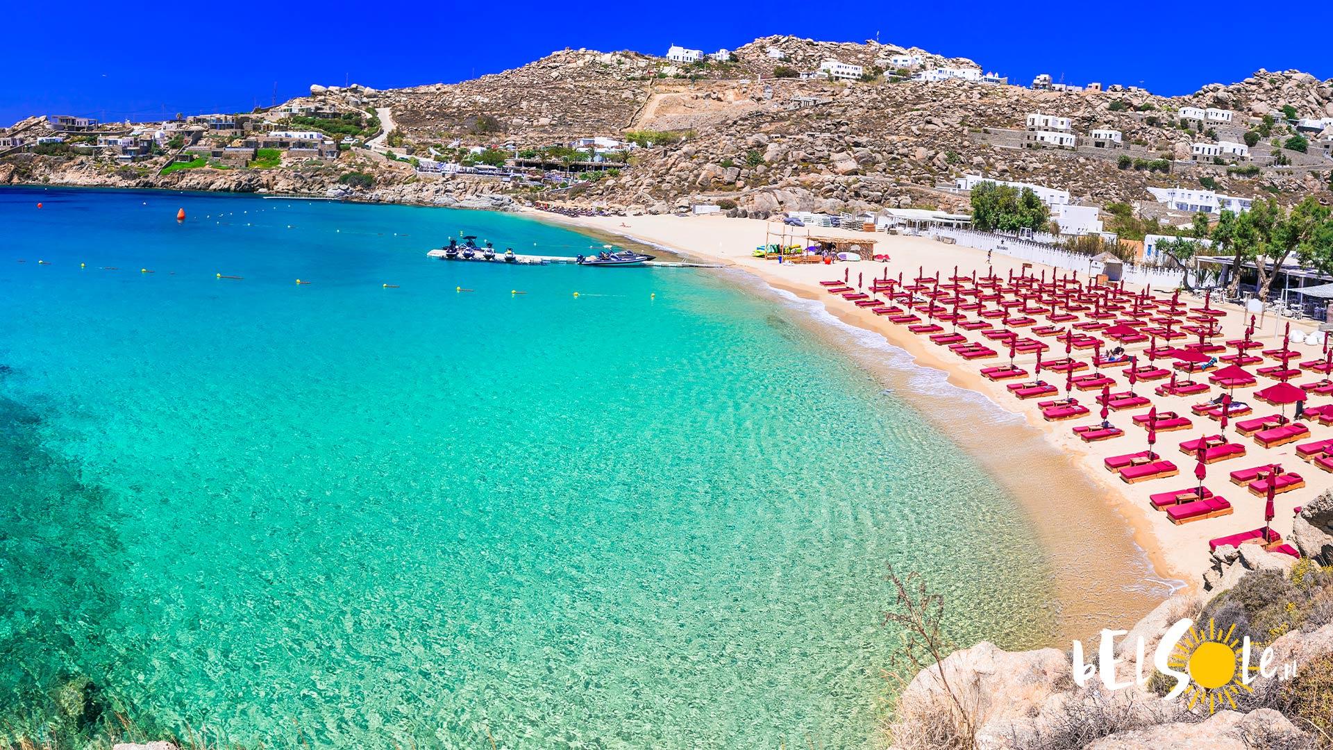 najladniejsze plaze Mykonos
