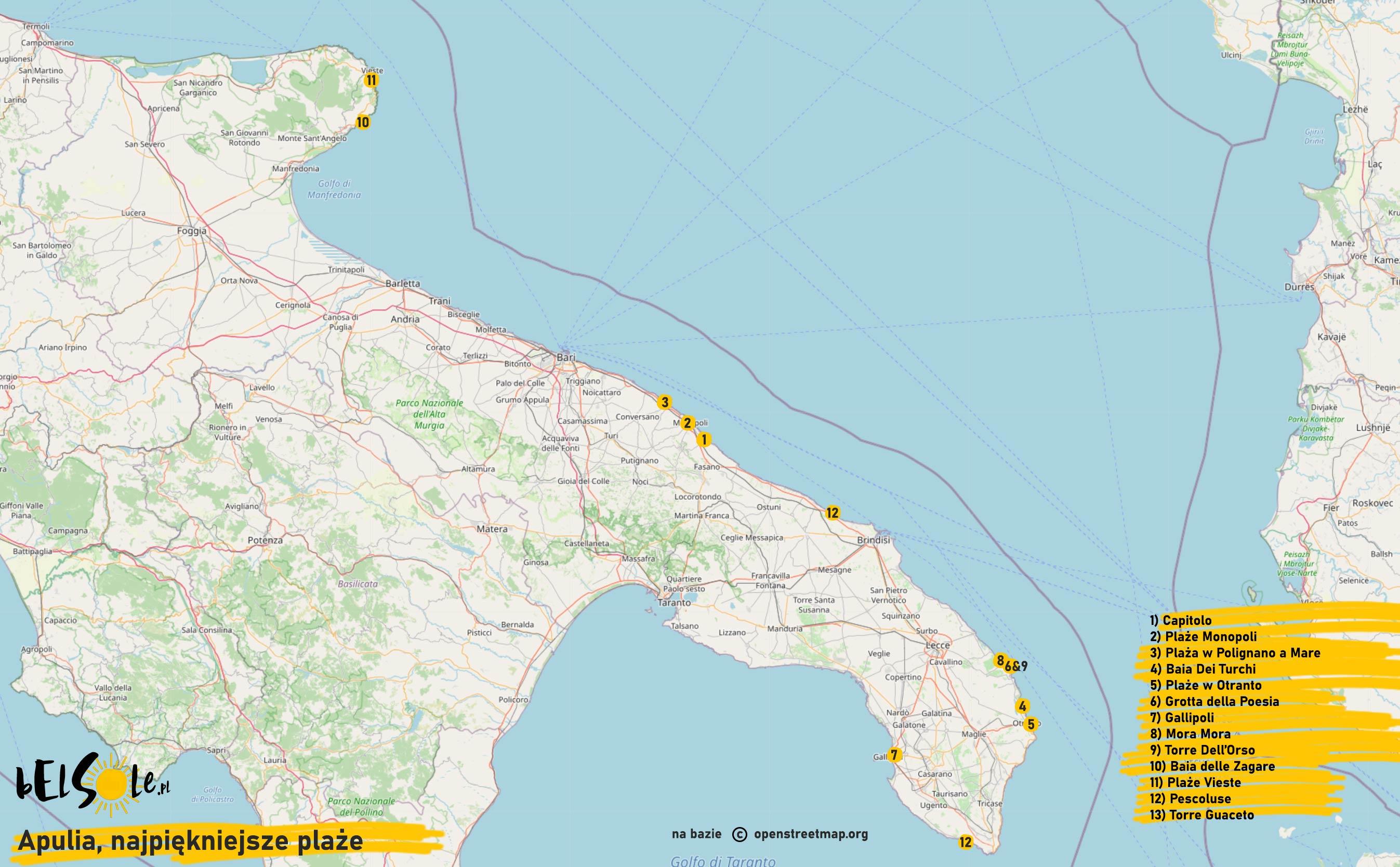 najpiekniejsze plaze Apulii